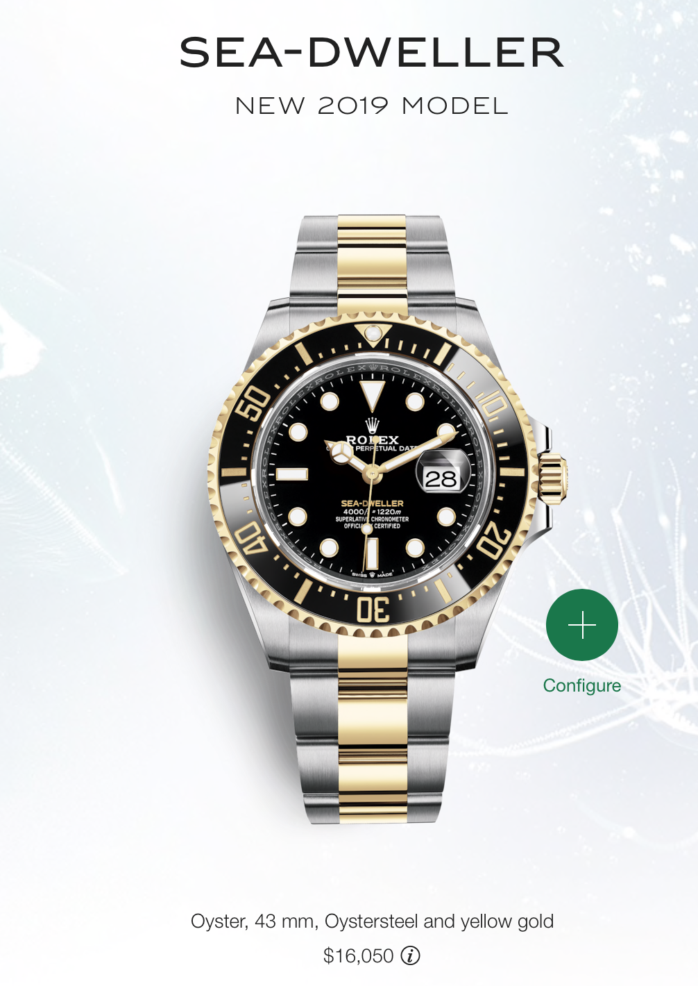 Two-tone rolex sea dweller.